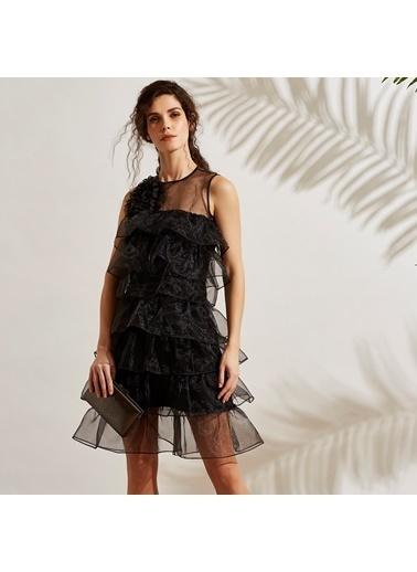 Vekem-Limited Edition Abiye Elbise Siyah